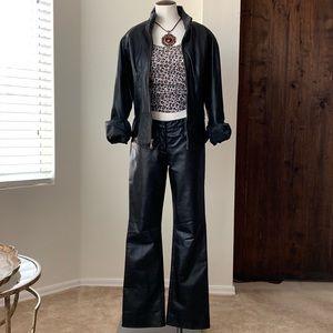 Vintage EXPRESS 100% Leather Pants Size 1 / 2